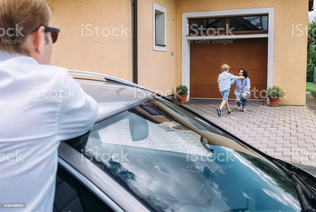 Family relations concept image stock photo