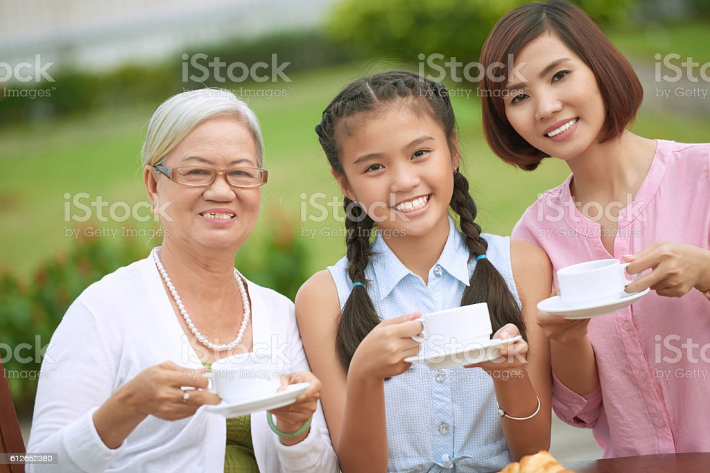 Family relations stock photo