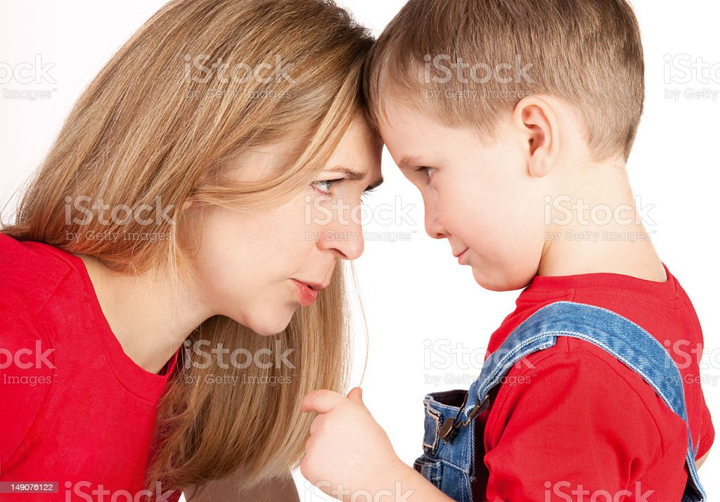 Family relationship with mother and son royalty-free stock photo