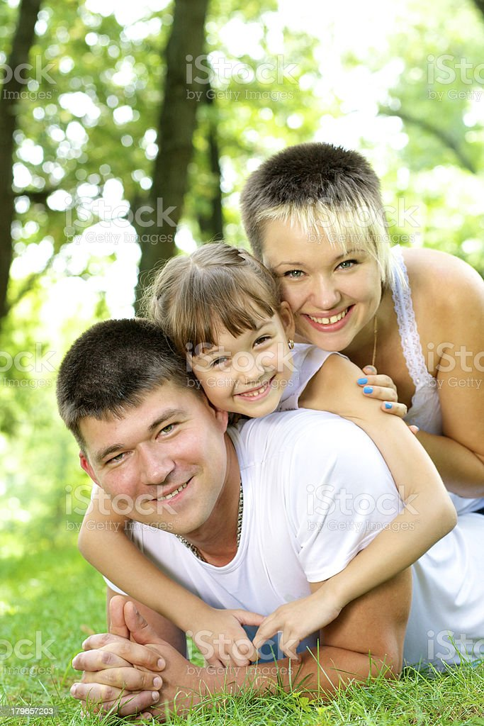 Family resting in nature. royalty-free stock photo