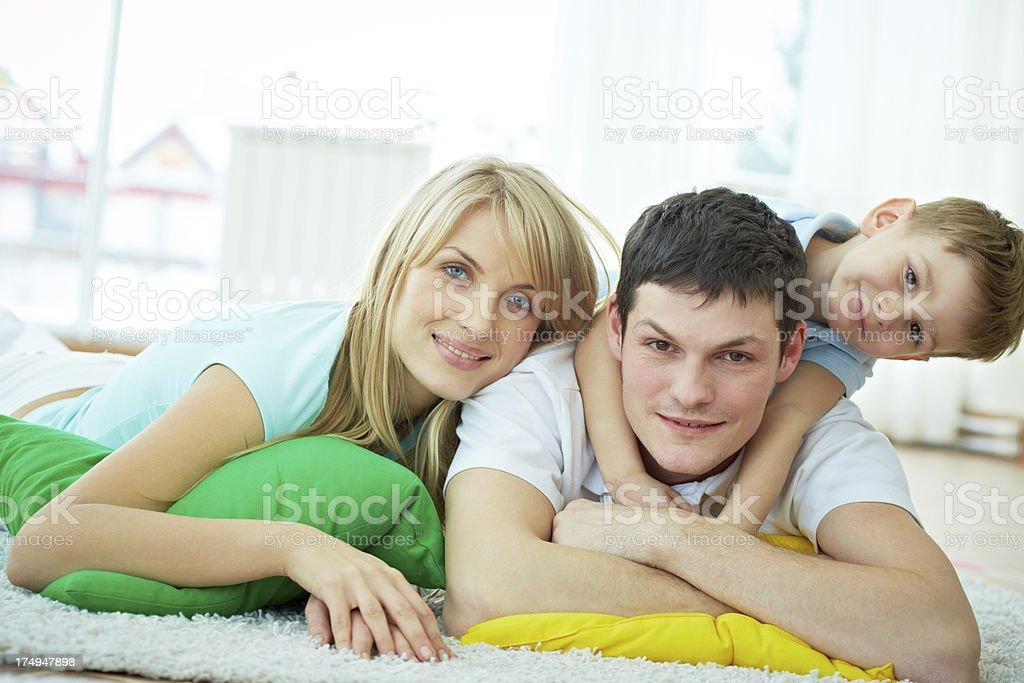 Family resting royalty-free stock photo