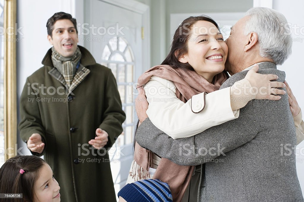 Family reunion stock photo