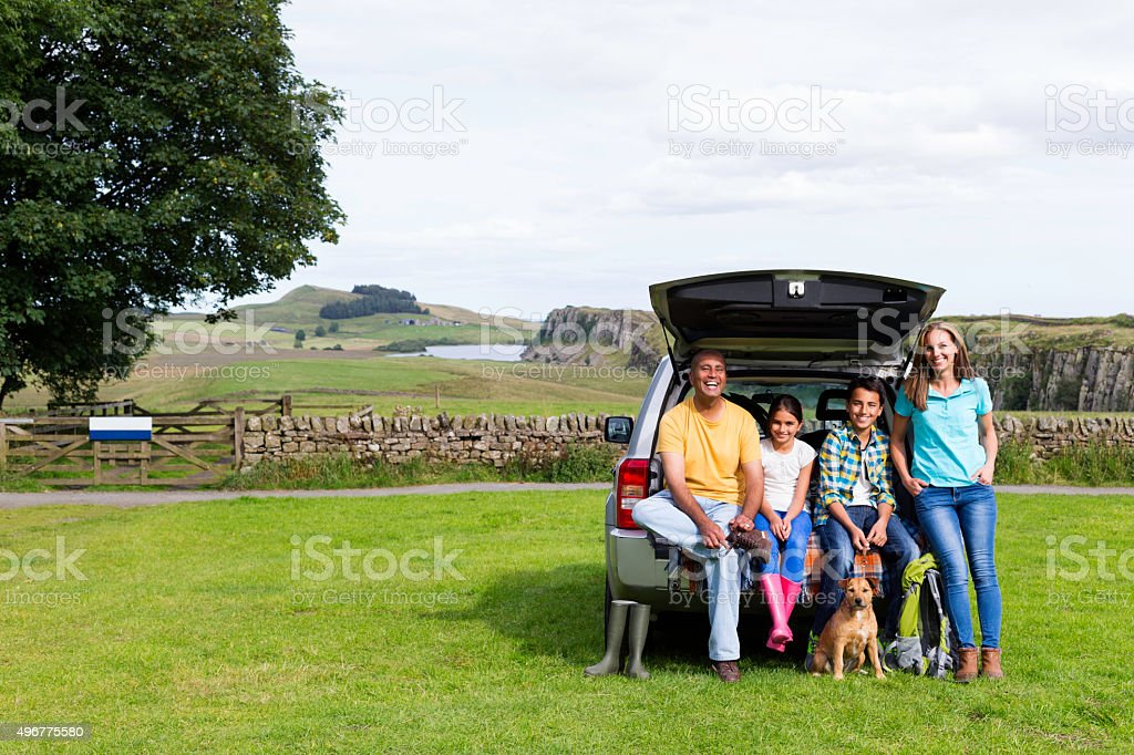 Family Road Trip to the Countryside stock photo