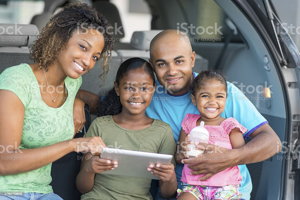 Family Roadtrip royalty-free stock photo