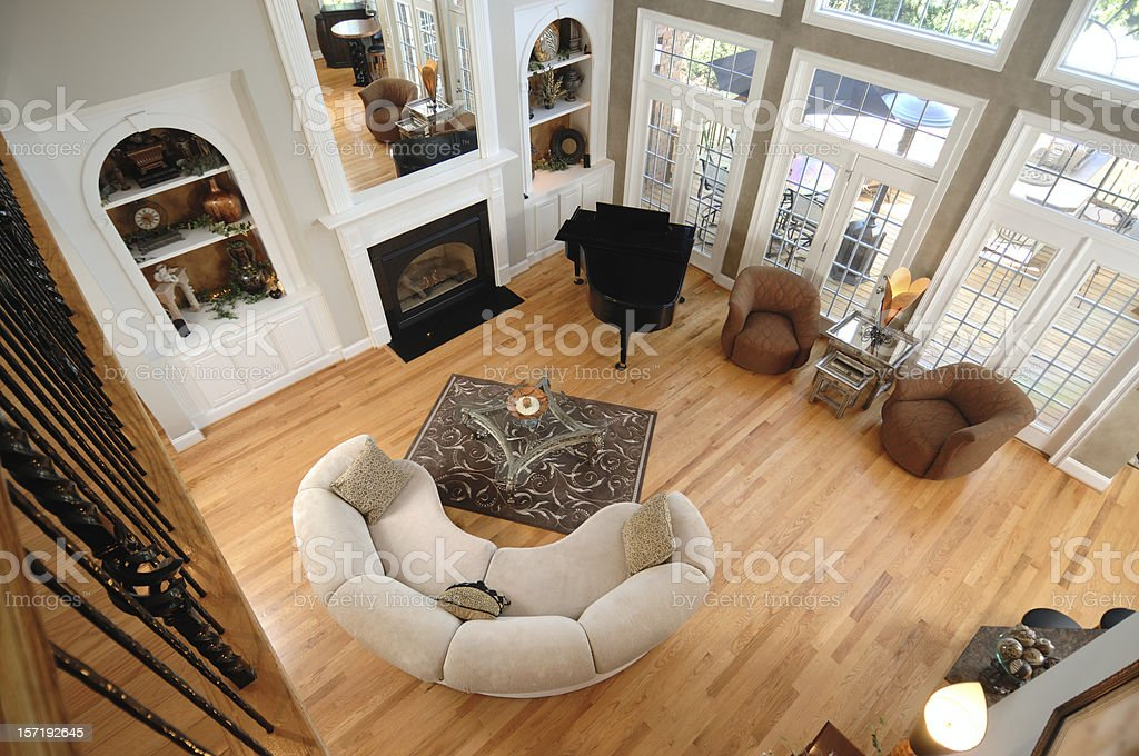 Family Room From Above stock photo