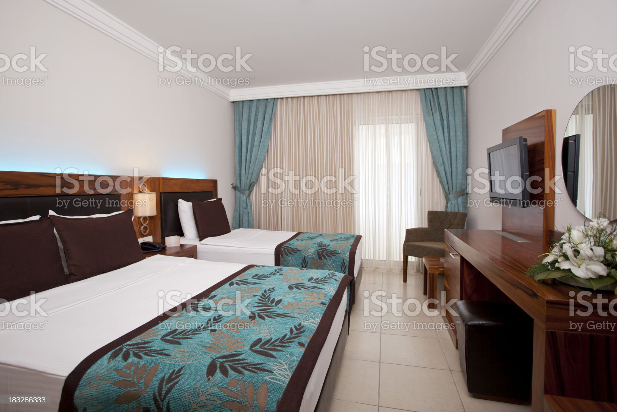 Family room in hotel. royalty-free stock photo