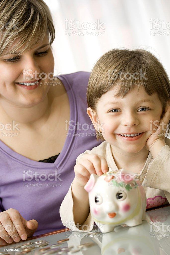 Family Savings royalty-free stock photo