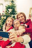 Family Selfie on Christmas Eve