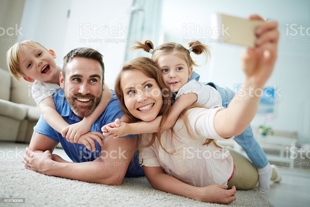 Family selfie royalty-free stock photo