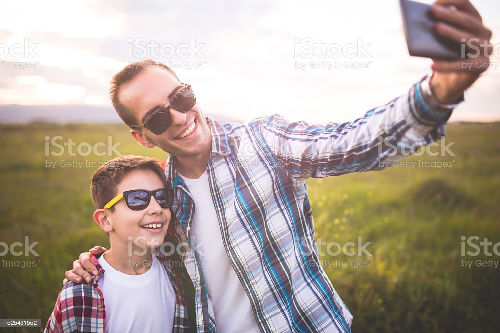 Family selfie stock photo