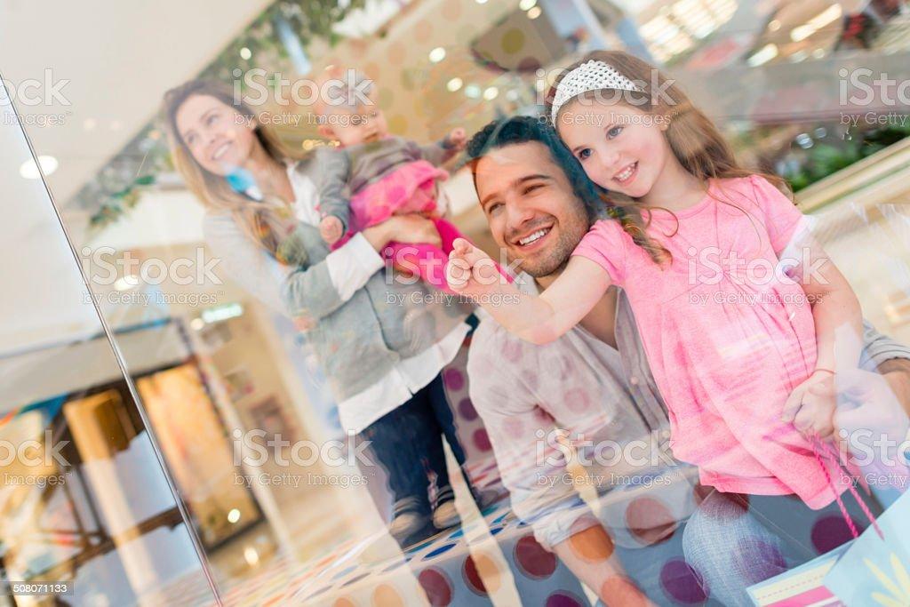 Family shopping stock photo
