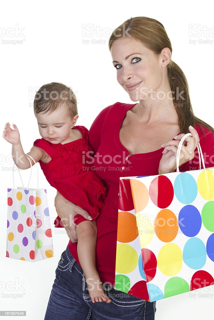 family shopping sales royalty-free stock photo