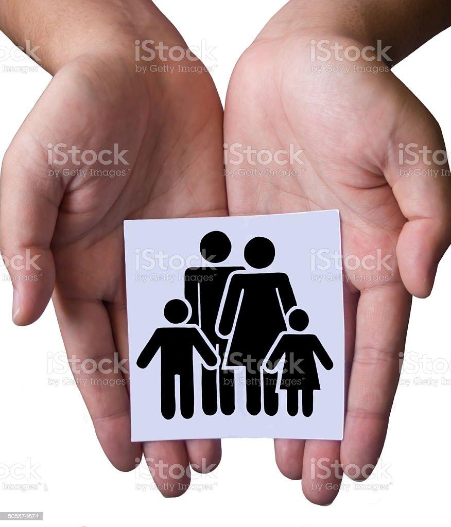 family sign stock photo