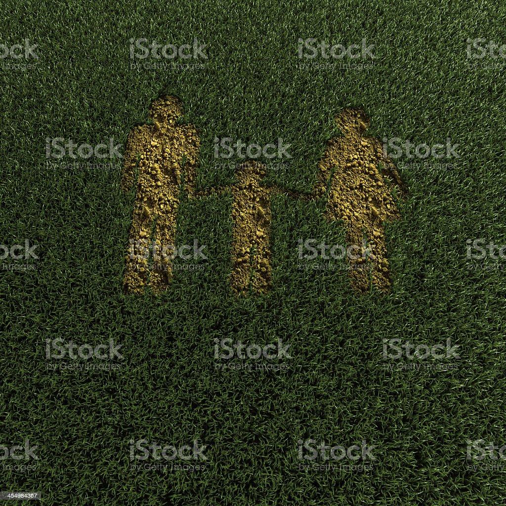 family silhouette stock photo