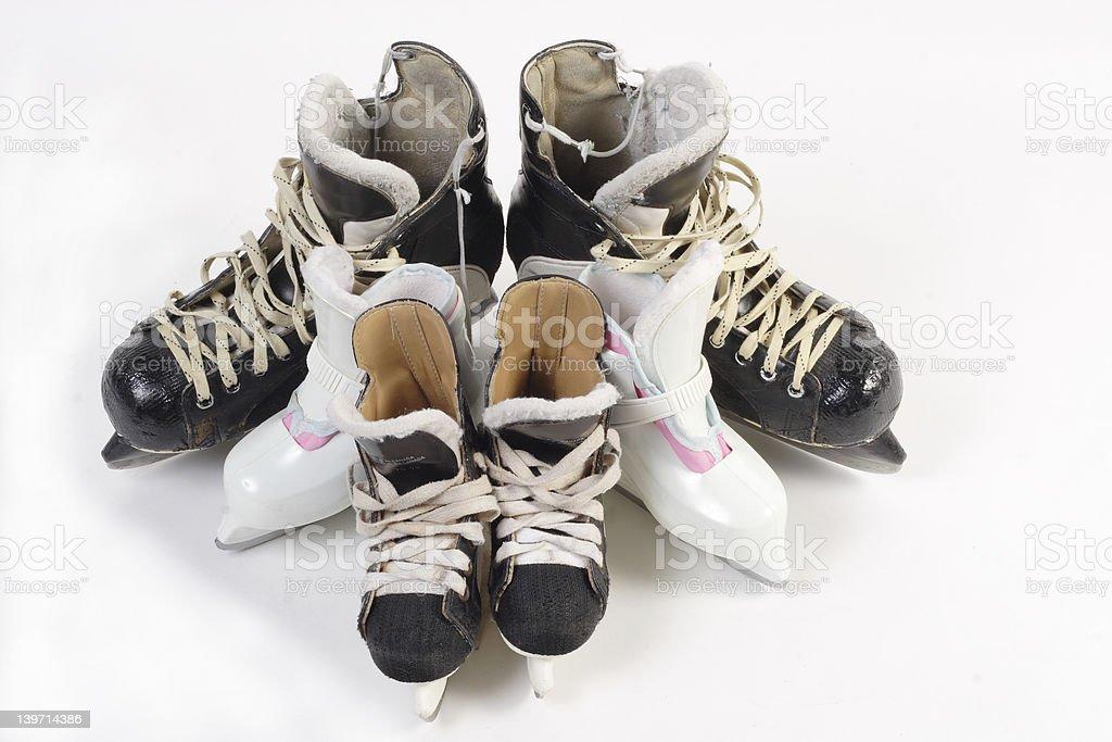 family skates stock photo