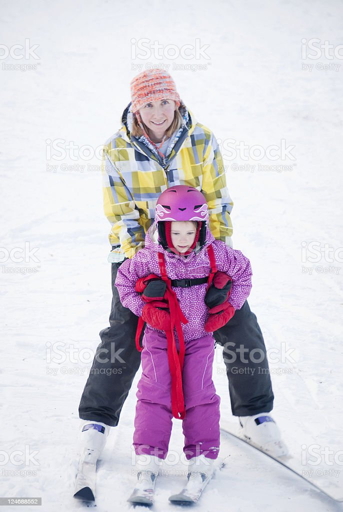 Family Ski Trip royalty-free stock photo