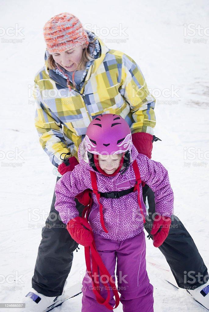 Family Ski Trip royalty-free stock photo