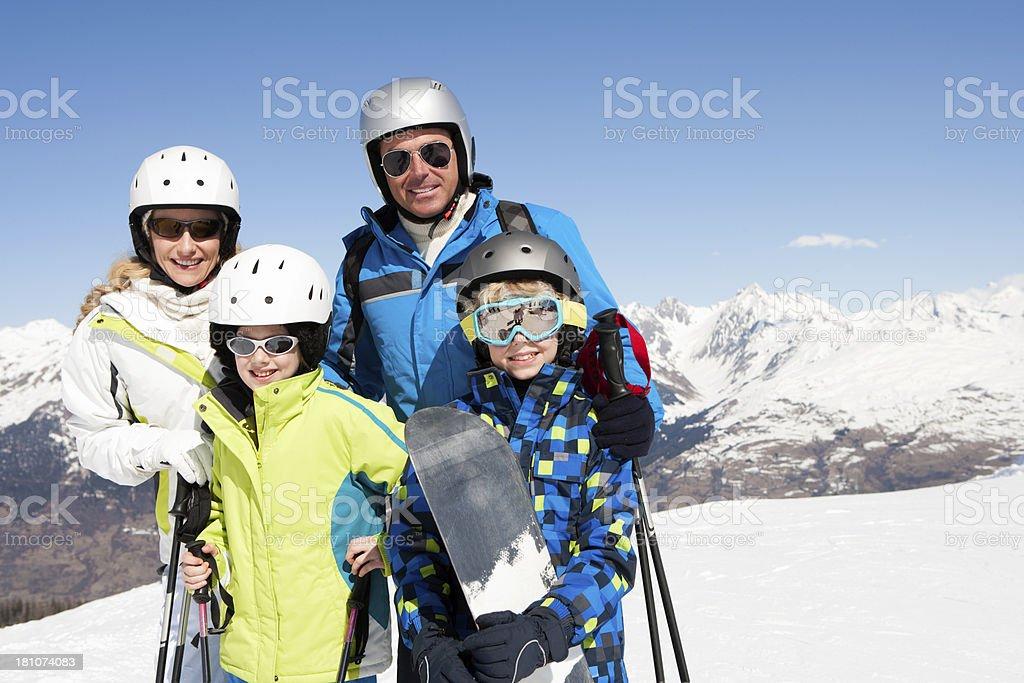 Family Skiing Photo royalty-free stock photo