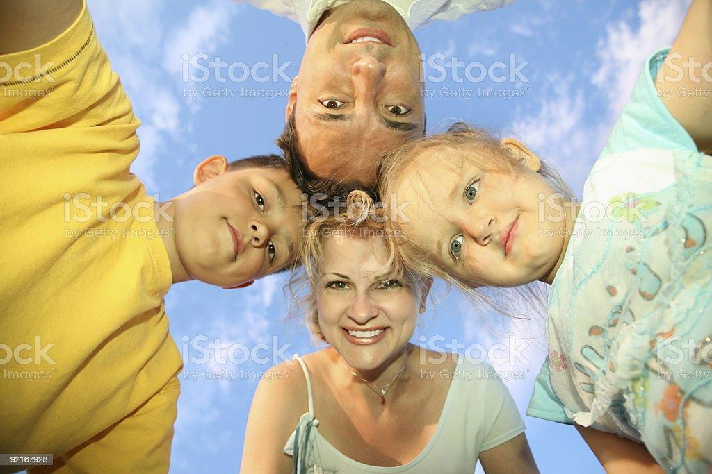 family sky royalty-free stock photo