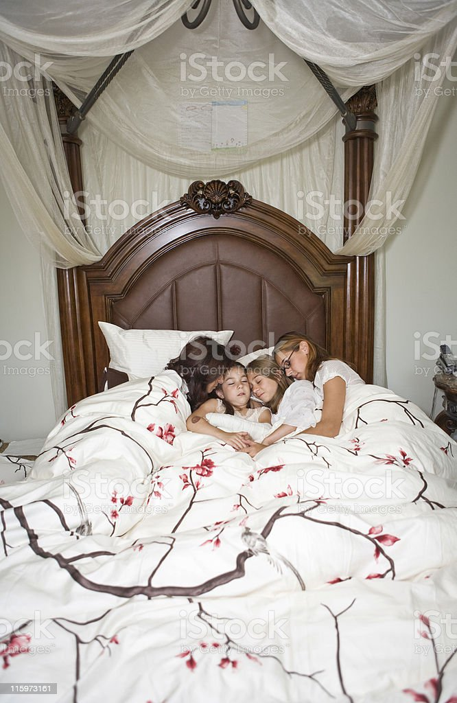 Family Sleeping stock photo