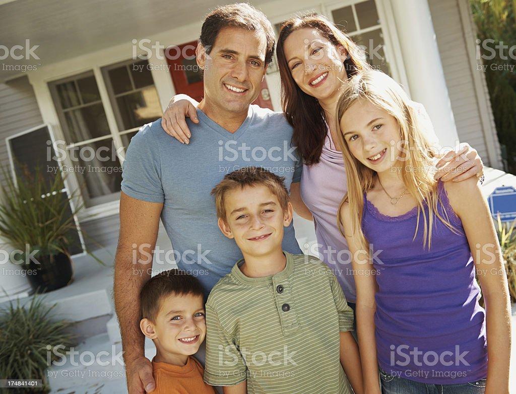 Family smiles royalty-free stock photo