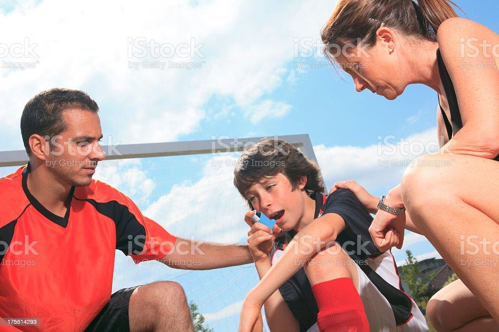 Family Soccer - Asthma stock photo
