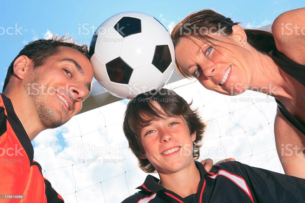 Family Soccer - Ball Horizontal royalty-free stock photo