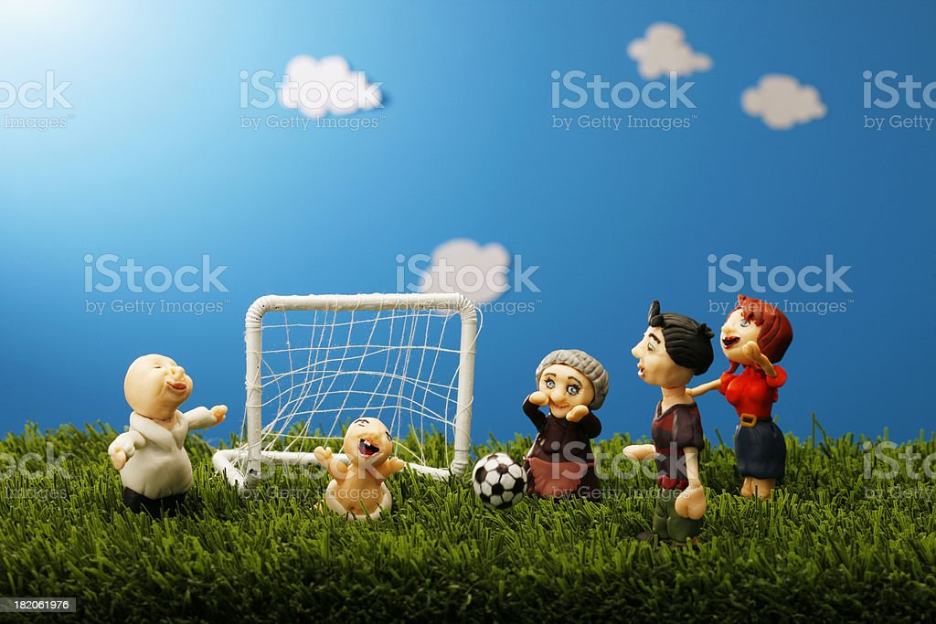 Family Soccer time royalty-free stock photo