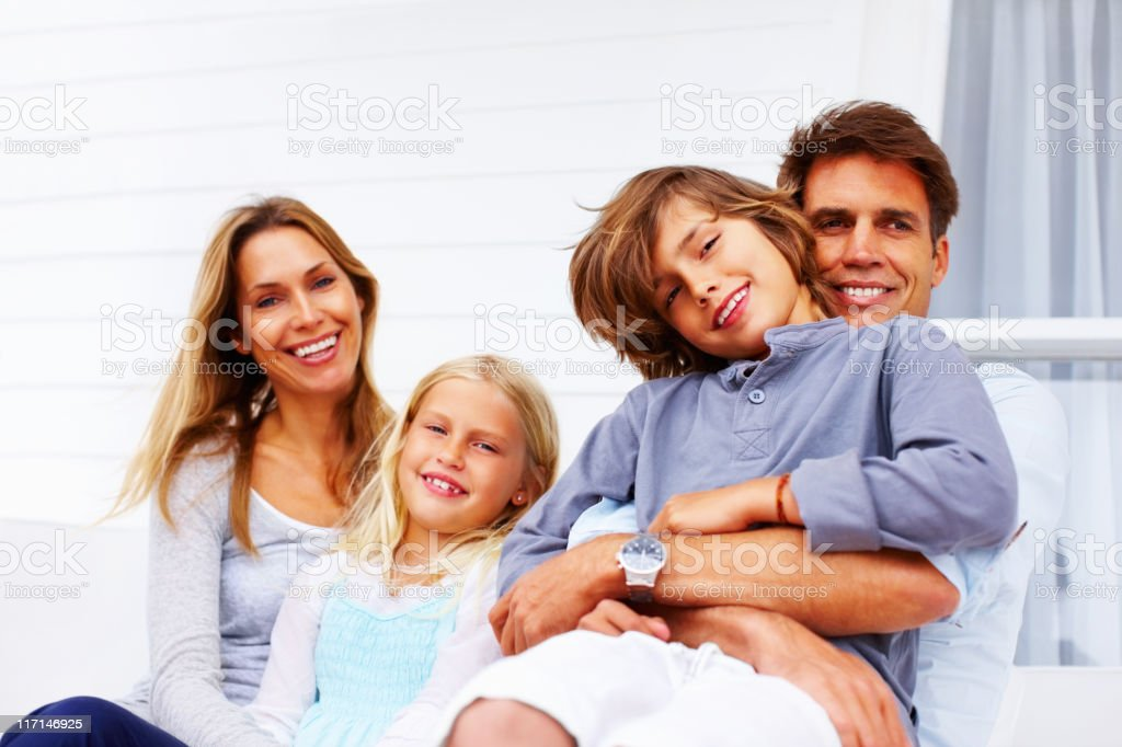Family spending quality time together royalty-free stock photo
