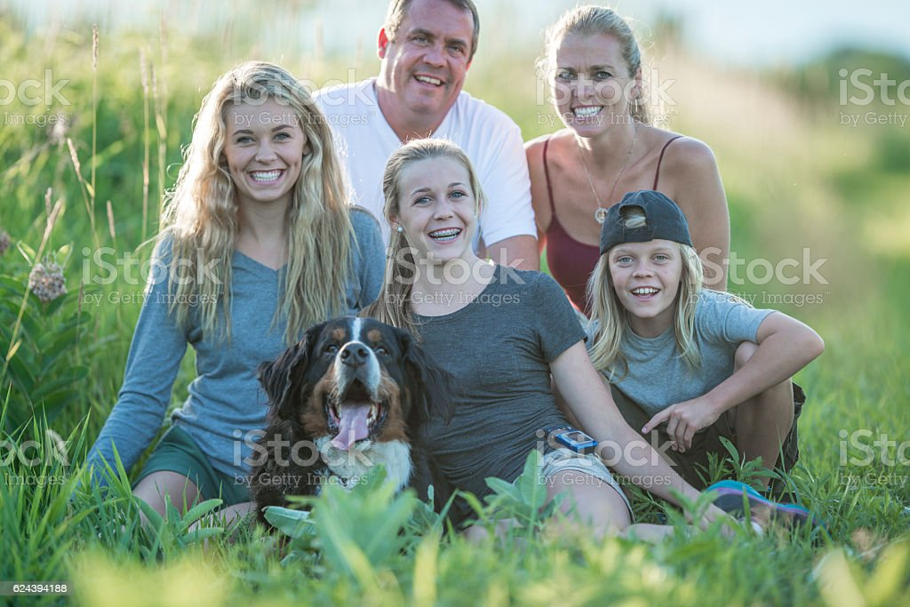 Family Spending Time in Nature stock photo