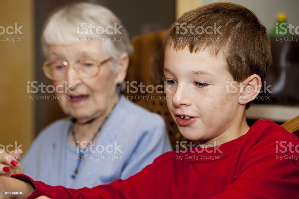 Family spending time together, candid and natural royalty-free stock photo