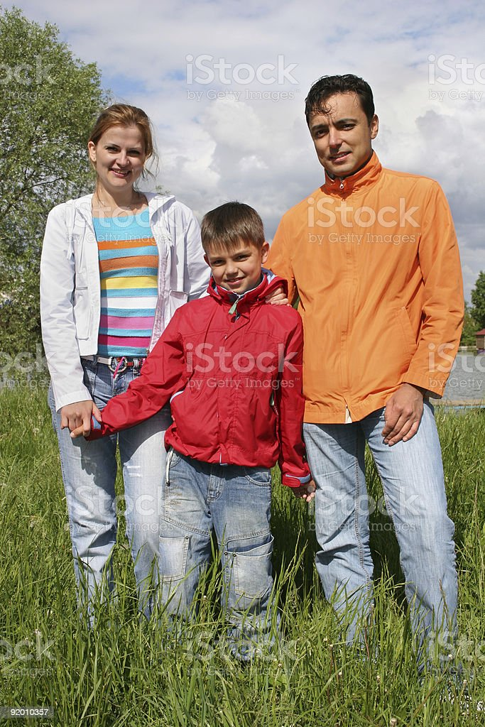 family stand royalty-free stock photo