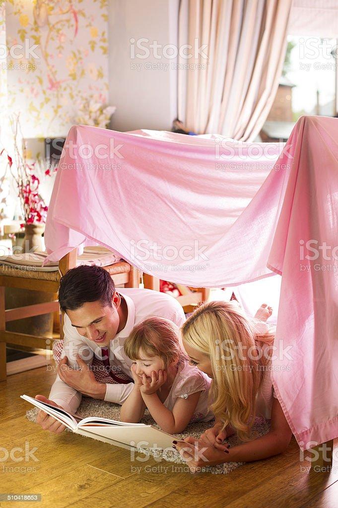family storytime stock photo