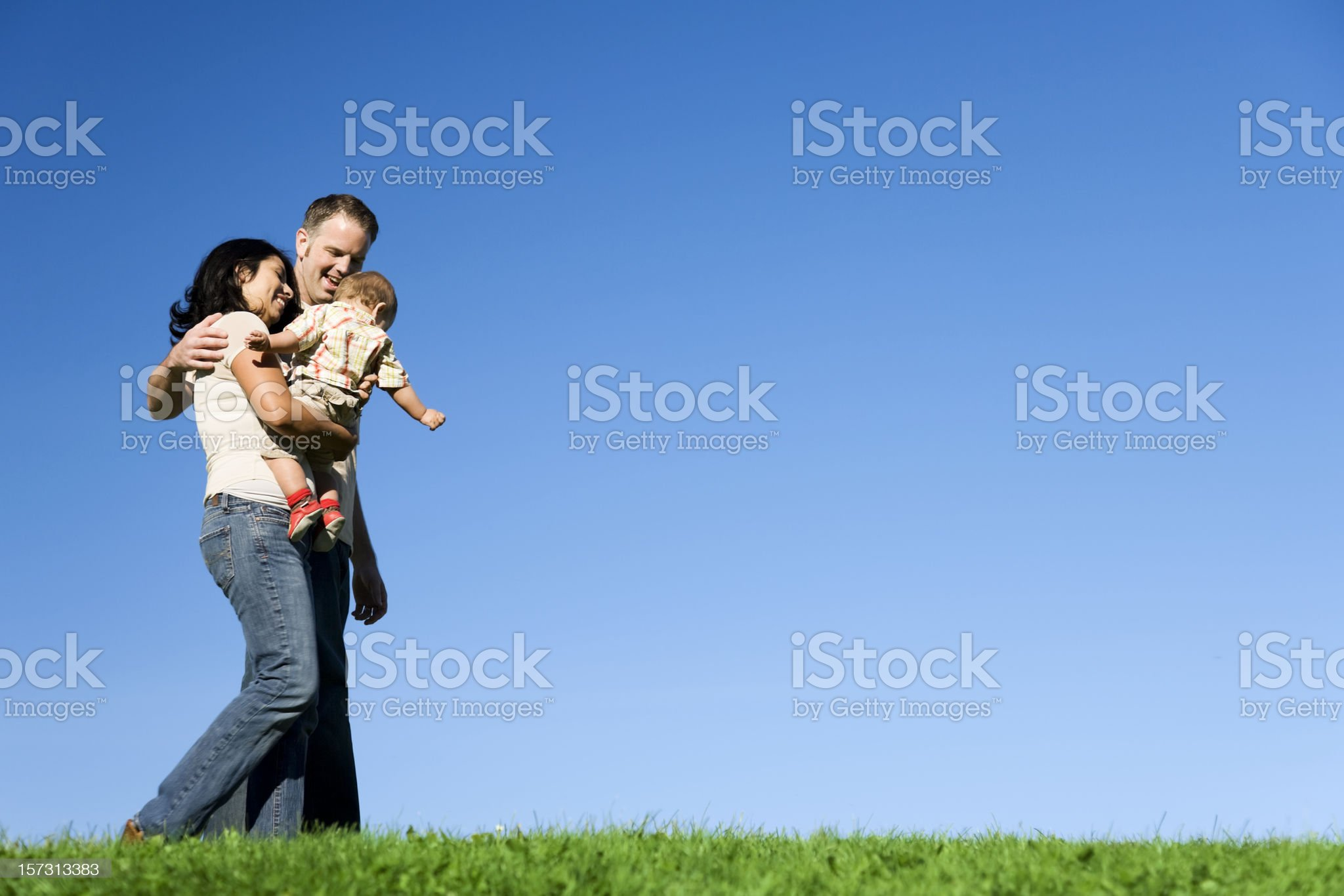 Family Strolling on a Summer Day royalty-free stock photo