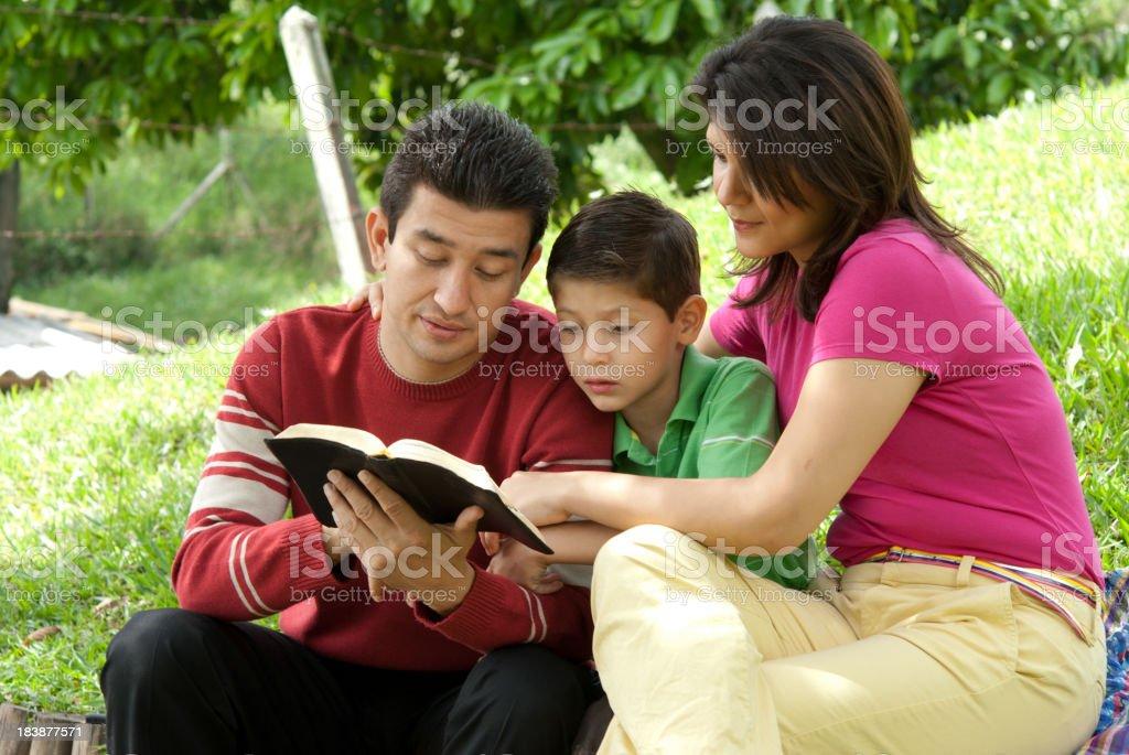 Family studing royalty-free stock photo