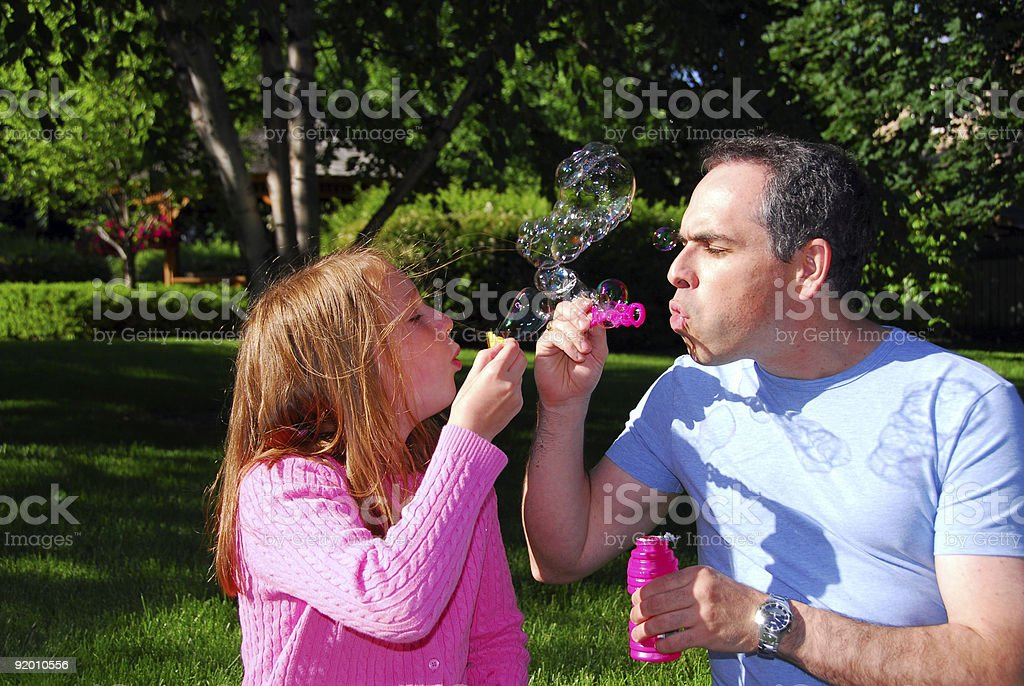 Family summer bubbles royalty-free stock photo