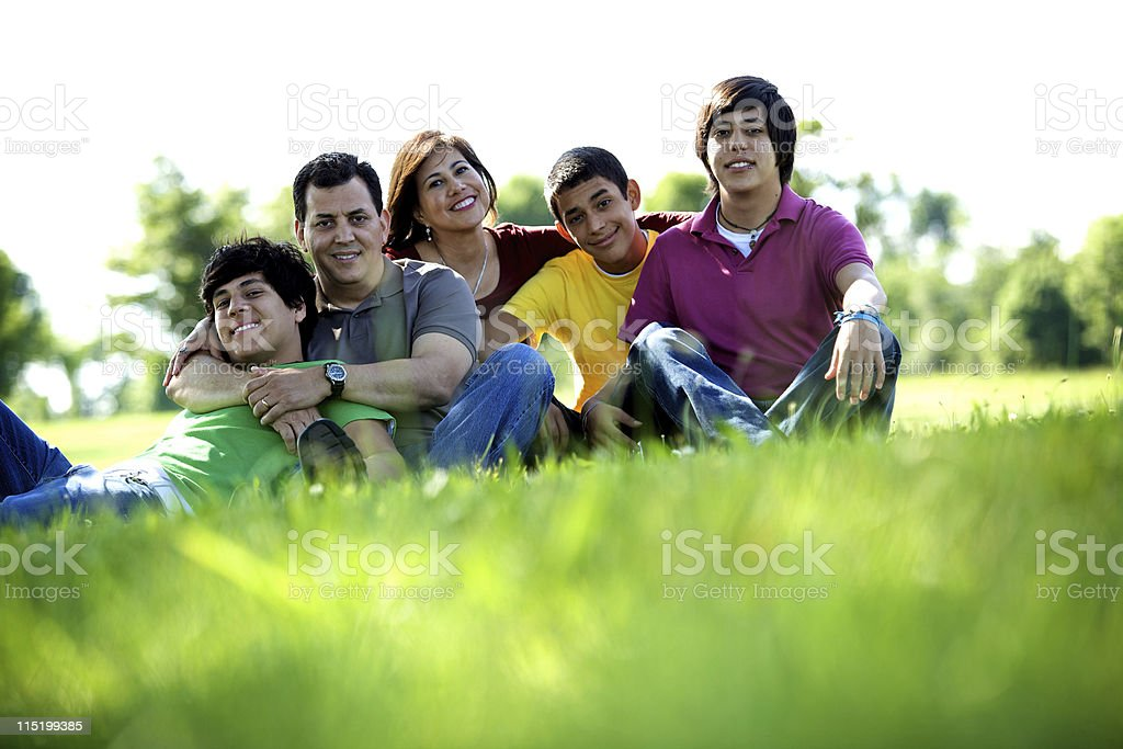 family summer fun portraits royalty-free stock photo