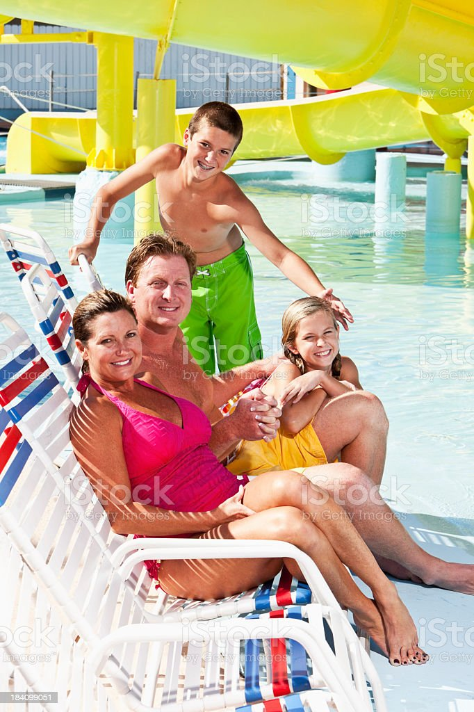 Family summer vacation royalty-free stock photo
