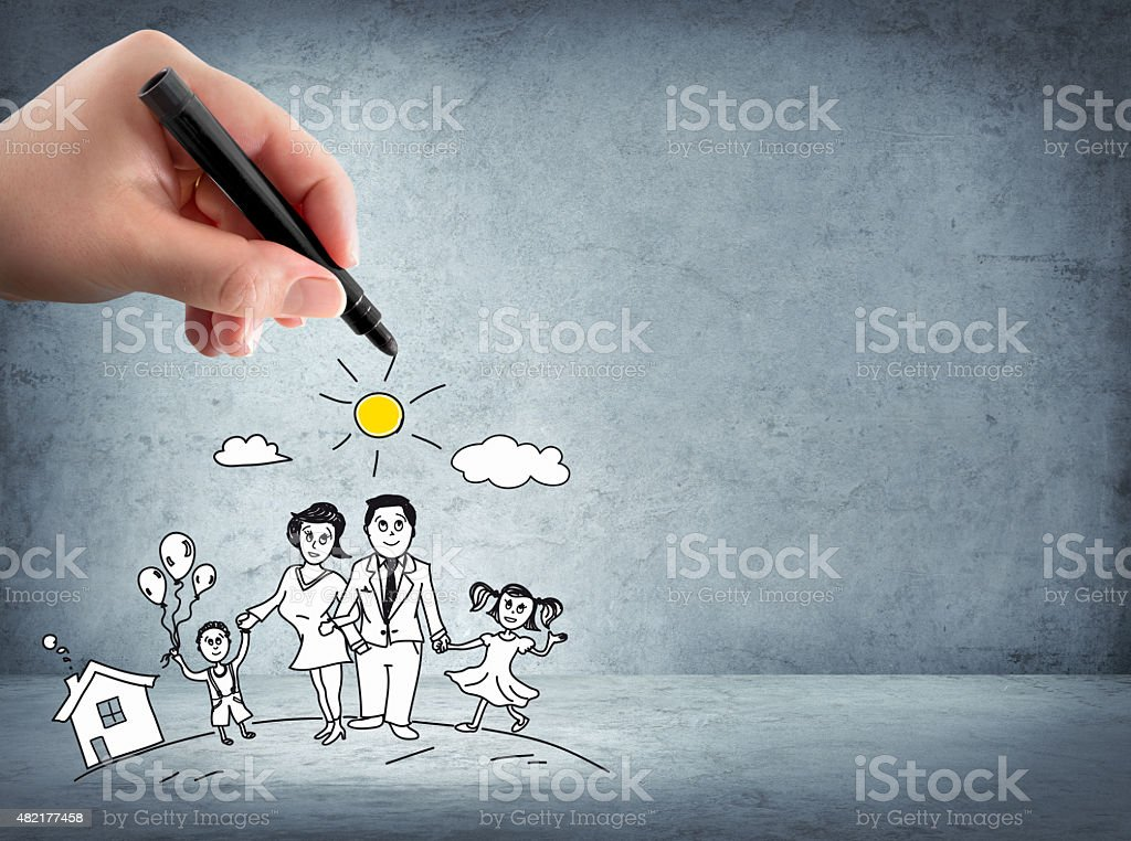 family support - insurance concept stock photo