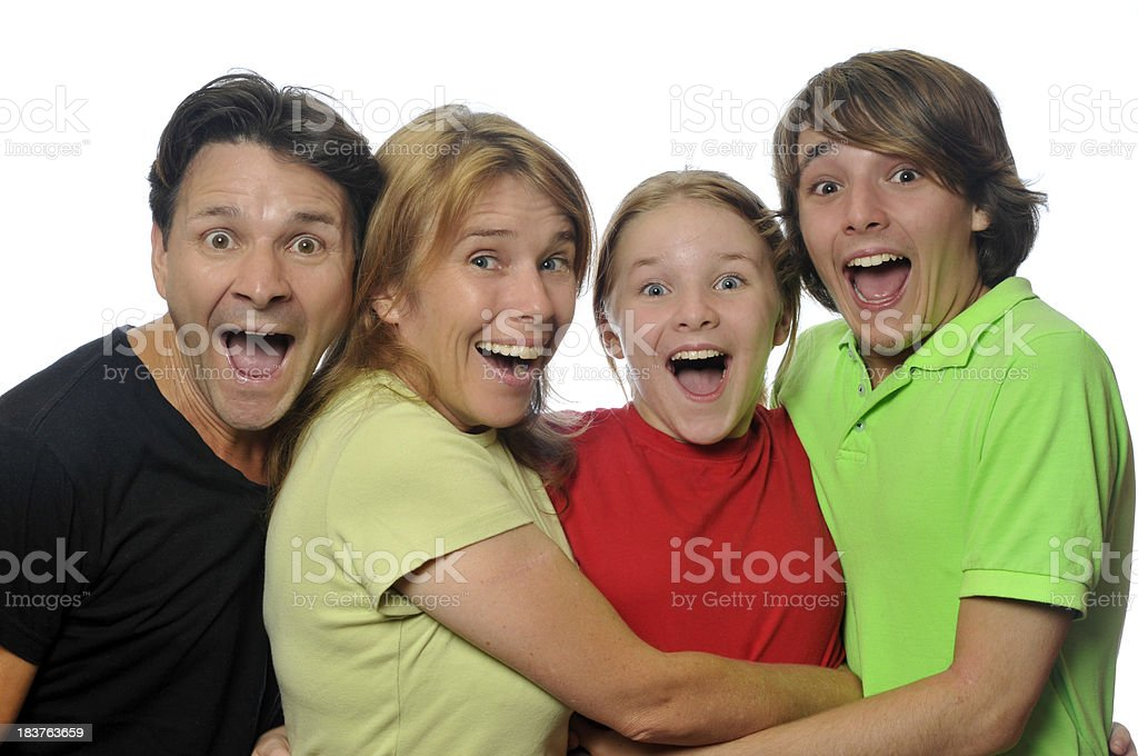 Family Surprise royalty-free stock photo