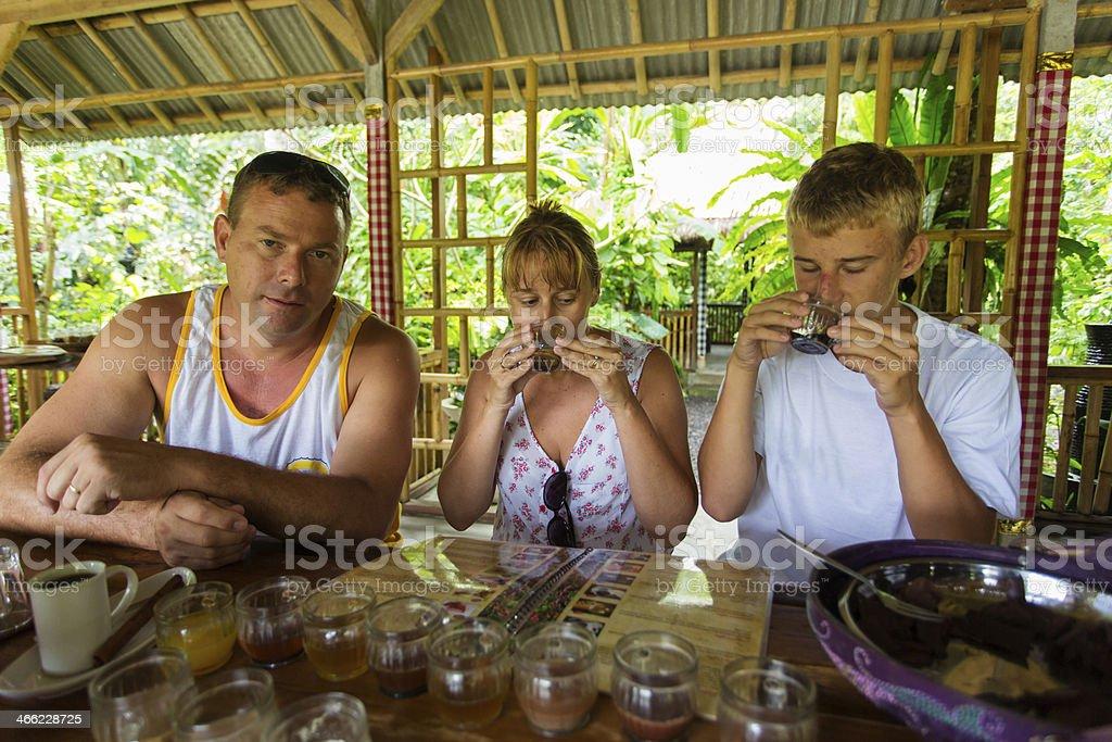 Family Taste Testing stock photo