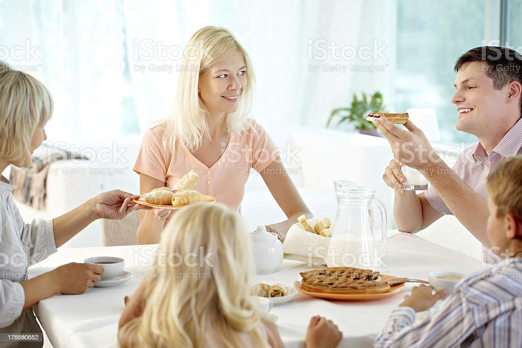 Family tea royalty-free stock photo