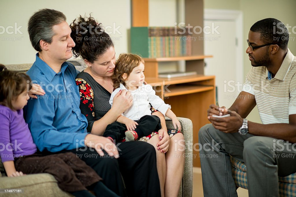 Family therapy royalty-free stock photo