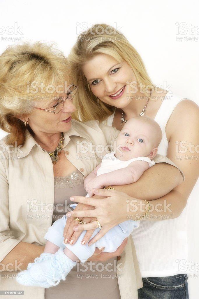 Family Three royalty-free stock photo