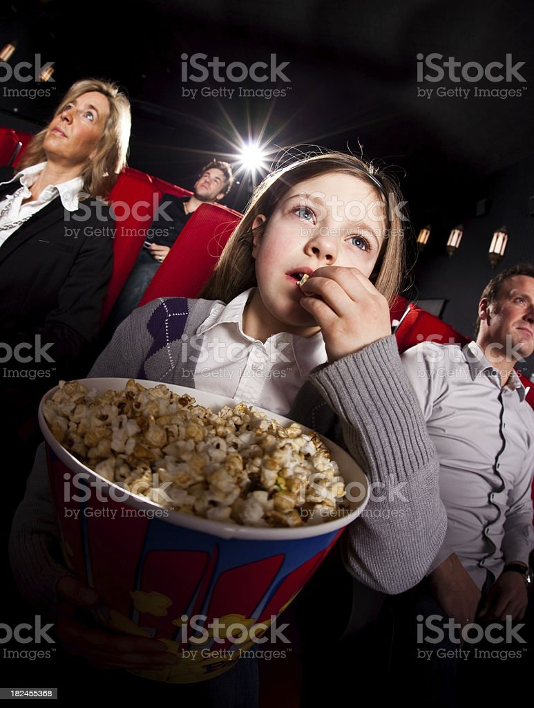 family time in the cinema royalty-free stock photo