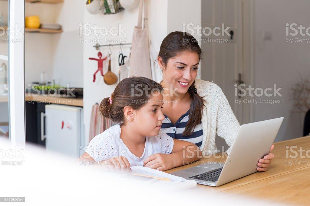 Family time ! stock photo