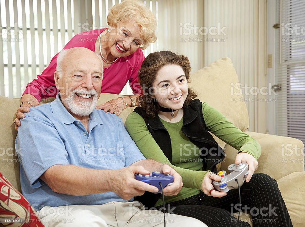 Family Time with Grandparents royalty-free stock photo