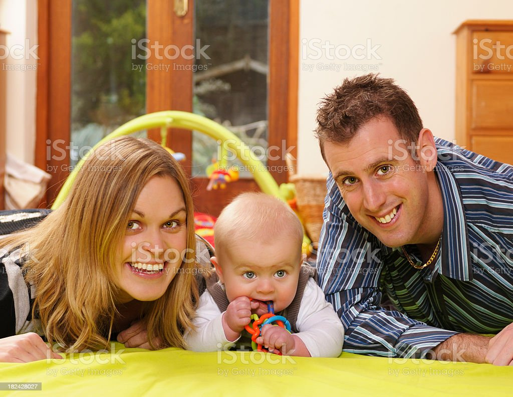 Family Together on the Playmat stock photo
