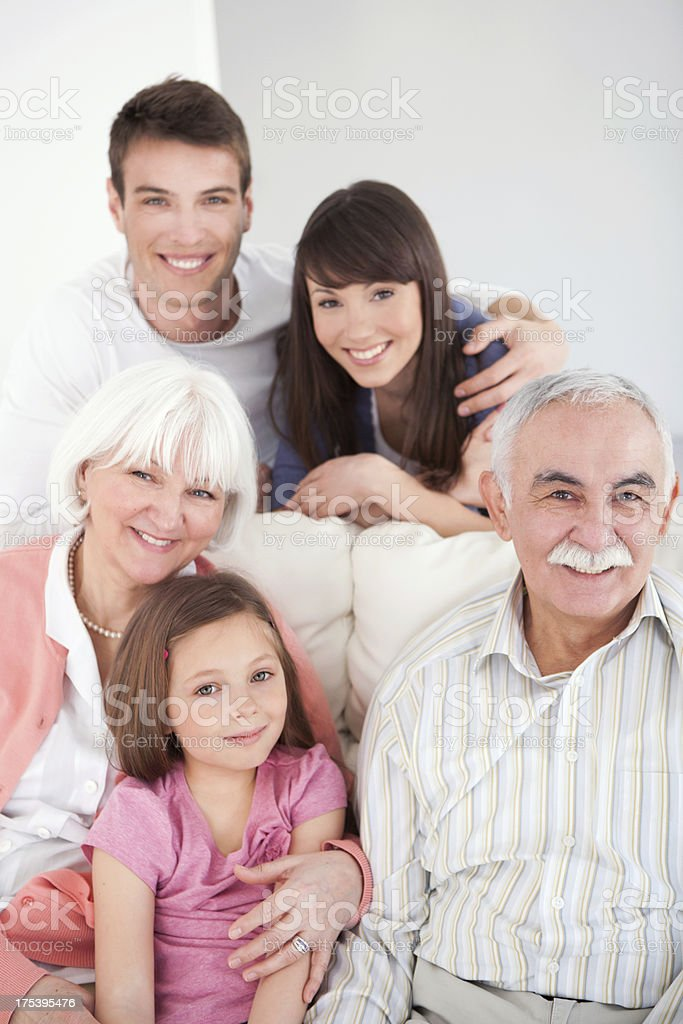 Family together. royalty-free stock photo