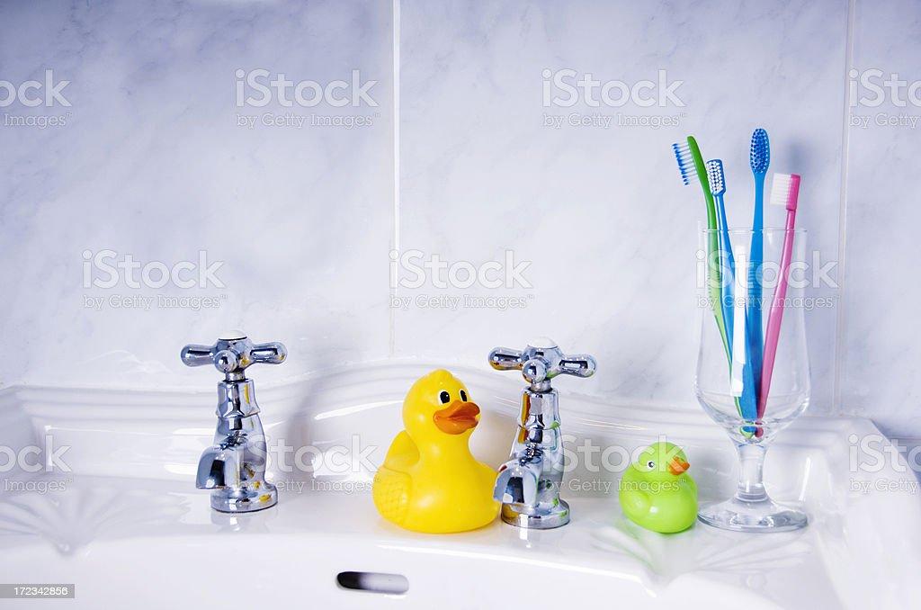 family tootbrush time royalty-free stock photo